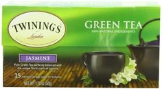 Twinings Green Tea with Jasmine, 25 Count - http://teacoffeestore.com/twinings-green-tea-with-jasmine-25-count/