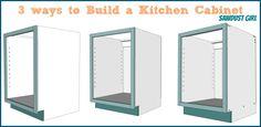 build a kitchen cabinet 3 ways