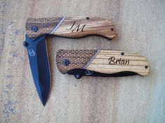 Personalized Wood Folding Knife Personalized by EngraveMeThis