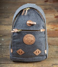 Yuketen Triangle Backpack in Grey Heather Wool