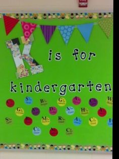 Kindergarten beginning of year bulletin board