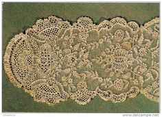 Point d'Alencon - 18th Century needlelace.  Just sold this postcard on Delcampe.co.uk :)
