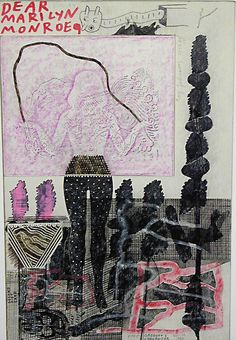 Ray Johson, Dear Marilyn with Purple Rectangle