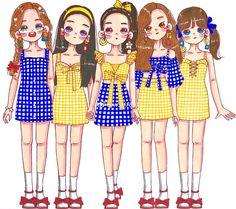 power up area Bff Drawings, Kawaii Drawings, Red Velvet Photoshoot, Red Velet, Red Velvet Joy, Cute Art Styles, Korean Art, Kpop Fanart, Seulgi