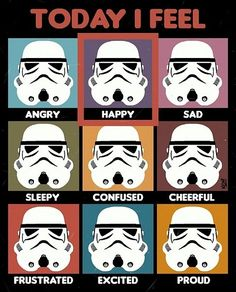 "Star Wars ""Today I Feel"" Feelings Chart"
