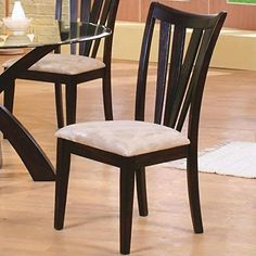 Coaster Home Furnishings 101072 Casual Dining Chair (Set of 2), Cappuccino