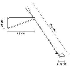 Flos - 265 Wall Lamp - line drawing