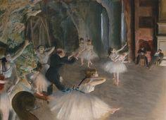 Répétition du ballet, par Édgar Degas
