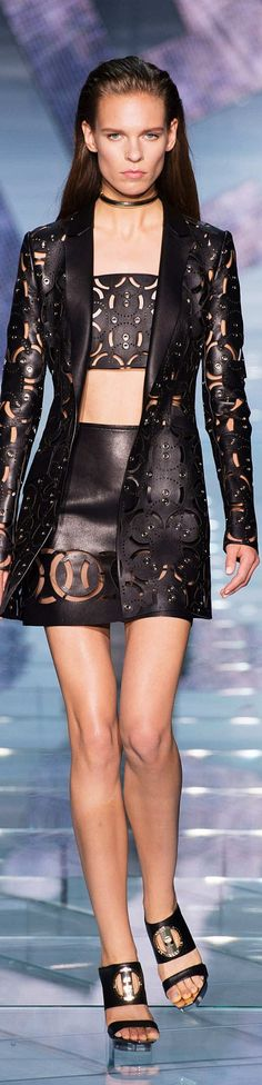 Versace Collection Spring 2015 | The House of Beccaria~ I'm feeling hooded jackets recently