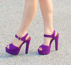 Purple Chunky Heels