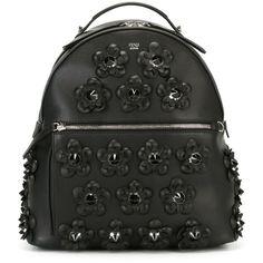 Fendi flower appliqué backpack (4,472 CAD) ❤ liked on Polyvore featuring  bags, backpacks af37a8b18f