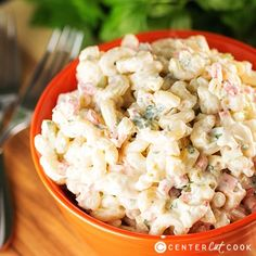 Easy Macaroni Salad ~ I add chopped onion, chopped dill pickle and chopped hard boiled egg.