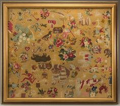 Linens & Textiles (pre-1930) Trend Mark Vintage Floral Tapestry Panel Strengthening Waist And Sinews