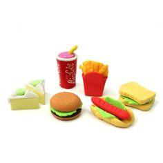 Radiergummis, Fast Food, 6 Stück