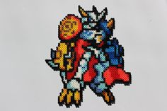 Omnimon (Digimon Battle Spirit) perler beads by P-Rad