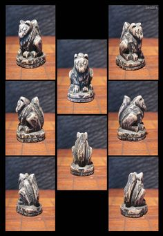 Hand Carved Wooden Miniature Fox Totem by elfWorksLane on Etsy, $30.00