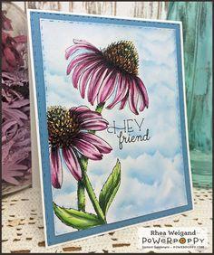 Easy Breezy Coneflowers Digital Stamp Set | Power Poppy by Marcella Hawley