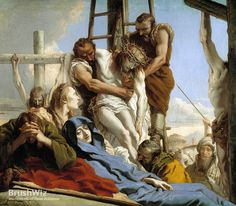 The Deposition by Giovanni Domenico Tiepolo - Oil Painting Reproduction - BrushWiz.com