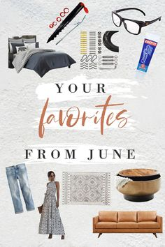 top products from June! From DIY, decorating and clothing favorites. Happy July, Types Of Craft, Marketing Professional, Cool Diy Projects, Three Kids, Your Favorite, June, Diy Decorating, Diy Ideas