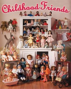 This charming collection was photographed for a special cover of Reminisce Magazine. Whether you're 80 or 18, the poignant memories of special childhood friends like Raggedy Ann, Sonja Henie, Shirley Temple, Barbie, Betsy Wetsy, Crissy, Dy - Dee, even a good ol' sock monkey, recall the happy times of childhood. This beautiful puzzle is guaranteed to bring back memories and brighten your day! 1000 piece jigsaw puzzle. Finished size 24