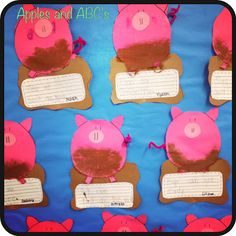 Could make these in farm unit. Kids could write about how many pigs they bought and how much they spent.