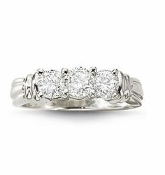 Love Lives Forever 1 CT. T.W. 3-Stone Diamond Ring