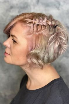 Braided Bob Short Hair Styles ❤ #lovehairstyles #hair #hairstyles #haircuts