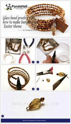 This is a piece of glass bead jewelry tutorial. In this project, you will learn how to make bangles from memory wire and several glass beads, in addition, make yourself in s super stylish outfit.