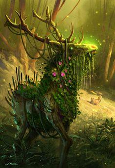 Elk Forest Elemental by AaronMiller