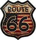 "ProSticker 825 (One) 5"" Route 66 Series Junk Yard Flag Decal Sticker"