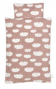 Ferm Living Dekbedovertrek Cluod wolken roze katoen 100x140 cm -Junior