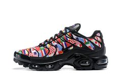 competitive price e9e6b 81e81 Nike Air Max TN Plus 2018 Nic GS World Cup Women Men Black Shoes