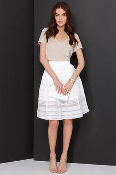 Mid Thought Ivory Midi Skirt at Lulus.com!