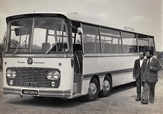 In 1964 a great leap forward was made when Aston's bought a brand new Bedford VAL with a Harrington Legionnaire body for £5,000 primarily for the popular seaside tours. It is seen here with Harry Aston (right) and John Wilcox who drove it most of the time.