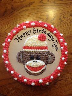 Sock monkey cake...G's bday