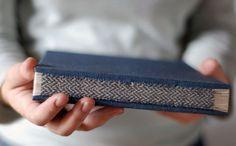 Handmade book by Natalie Stopka. Basketweave pattern