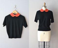 1950s sweater / 50s peter pan collar sweater / by DearGolden,