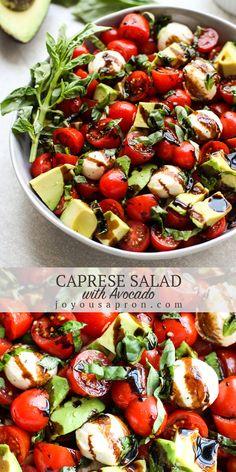 Caprese Salad with Avocado - delicious no cook side dish!