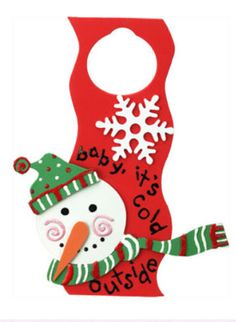 DecoArt® Baby, It's Cold Outside Door Hanger #craft #snowman #winter