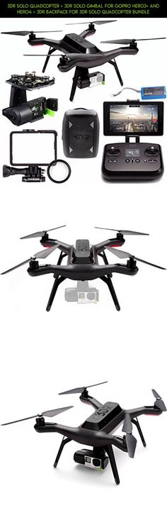 3DR Solo Quadcopter + 3DR Solo Gimbal for GoPro HERO3+ and HERO4 + 3DR Backpack for 3DR Solo Quadcopter Bundle #products #backpack #parts #fpv #racing #gadgets #shopping #drone #technology #for #3dr #solo #kit #tech #camera #plans