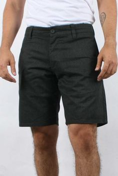 Brixton - Thompson Heather Shorts in Charcoal $32.50