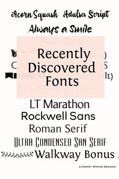 One can never have too many fonts. These fonts balance practicality and beauy. #fonts #typography #blogging Spring Design, Elements Of Design, Sans Serif, Script, Mom Group, Graphic Design, Typography Fonts, Journaling, Diys