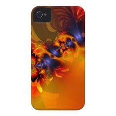 Orange Eyes Aglow – Gold  Violet Delight Case-Mate iPhone 4 Cases