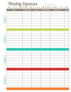 free printable household budget form getting your home life in