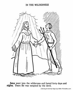 jesus teaches coloring pages jesus is tempted in the wilderness