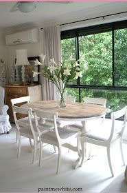 Paint Me White: Dining Table Makeover