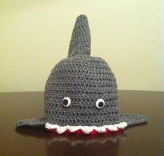 Shark hat #crochet
