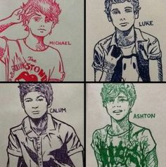 5sos fan art this is really good