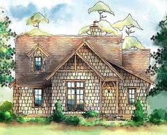 Wistful Itty Bitty Cottage - 26689GG | Cottage, Shingle, Vacation, Narrow Lot, 1st Floor Master Suite, CAD Available, PDF, Split Bedrooms | Architectural Designs