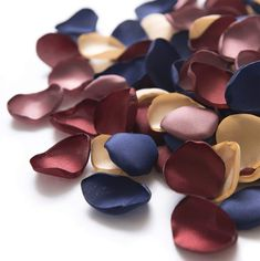 Ling's moment 200PCS Silk Rose Petals Burgundy Navy Flower Petals for Wedding Flower Girl Table Centerpiece Aisle Runner Party Dinner Table Decoration